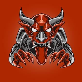 Monstro demoníaco com presas