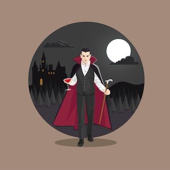 Monstro do dia das bruxas conde drácula