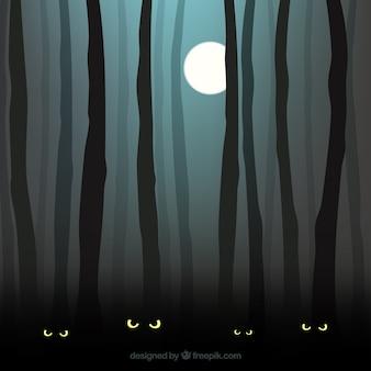 Monstro na floresta escura