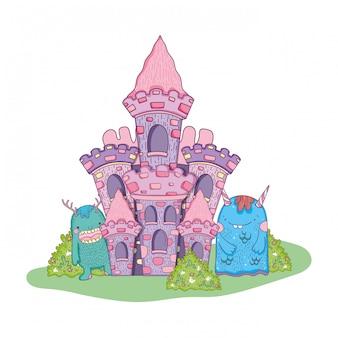 Monstros de conto de fadas no castelo