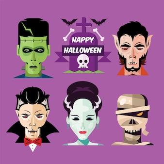 Monstros de halloween