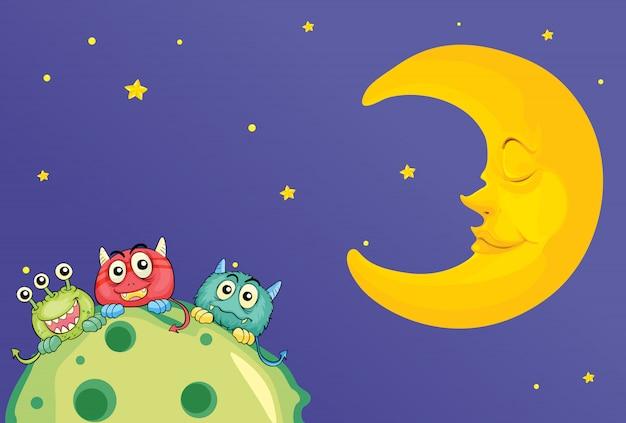 Monstros e uma lua