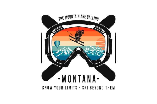 Montana conhece seus limites, maquete maquete de mercadoria de silte.