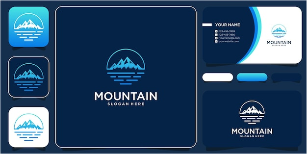 Montanha de design de logotipo