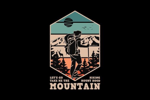.montanha, design elegante estilo retro