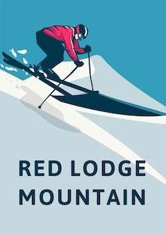Montanha do alojamento vermelho