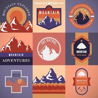 Montanha emblemas coleção