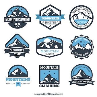 Montanha emblemas expedição
