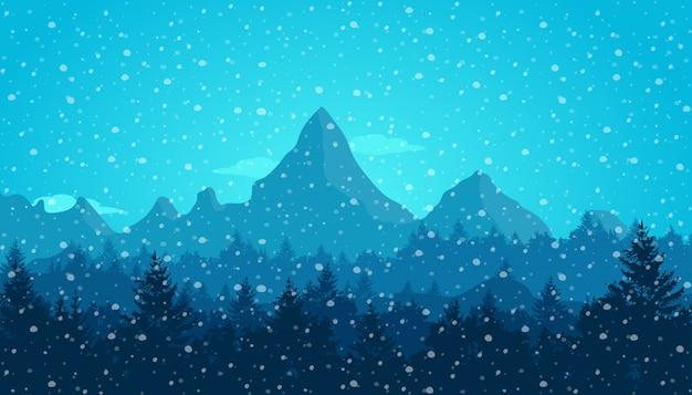 Montanha no inverno
