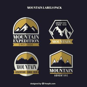 Montanha pacote emblemas expedição