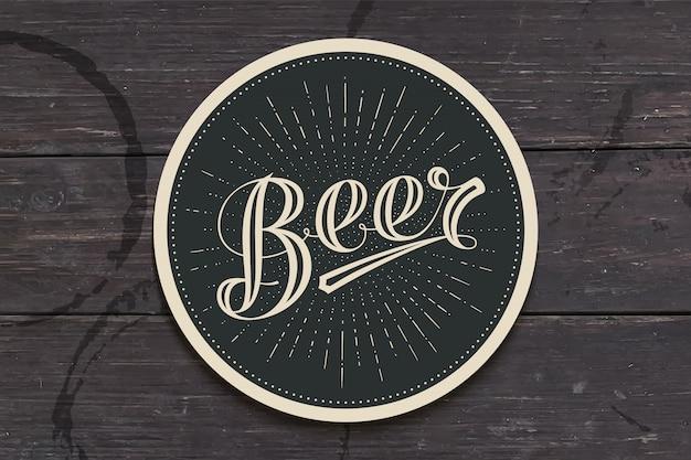 Montanha russa com mão desenhada letras cerveja