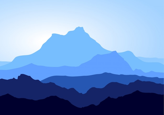 Montanhas azuis