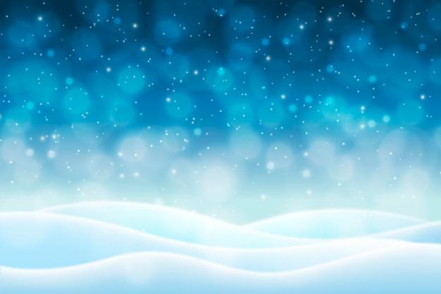 Montanhas de neve com fundo desfocado de inverno