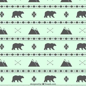 Montanhas e ursos padrão
