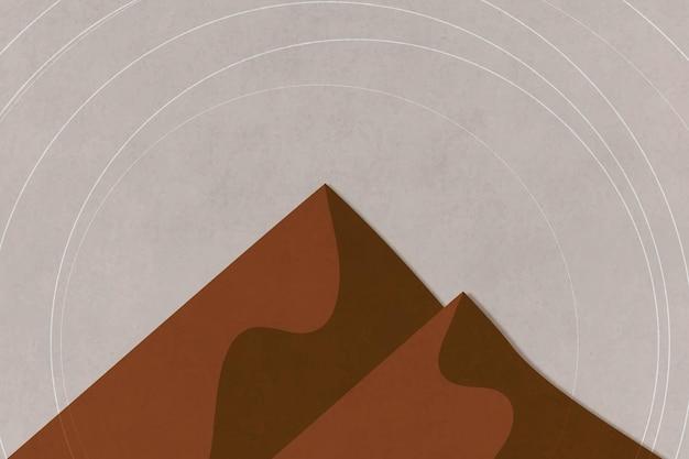 Montanhas em cores retrô, geométricas e minimalistas em estilo poster vintage