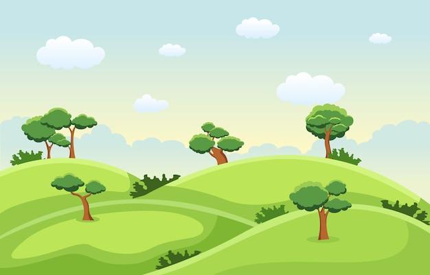 Montanhas hills green grass tree natureza paisagem céu