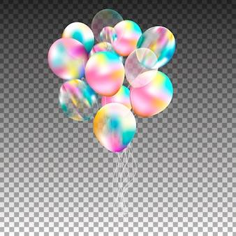 Monte de balões. mega conjunto de balões coloridos a voar. decoração de festa para aniversário, aniversário, comemoração, evento.