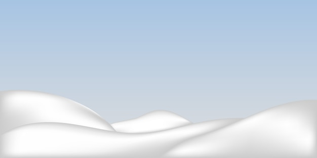 Monte de neve realista