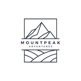 Monte pico montanha logo vector icon ilustração