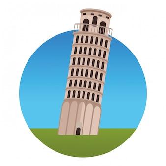 Monumento à torre de pisa