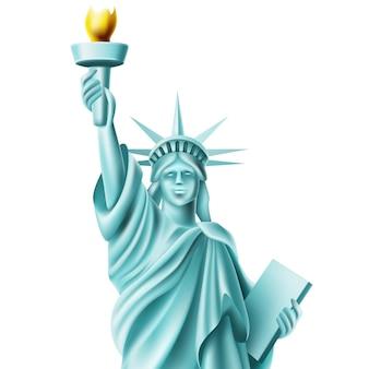 Monumento da estátua da liberdade na américa famoso marco