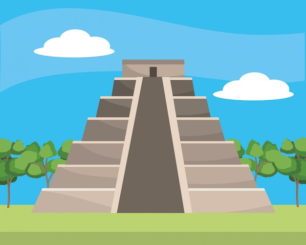Monumento pirâmide maia