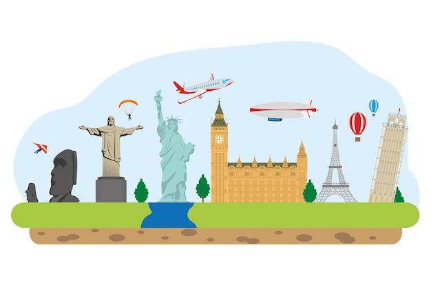 Monumentos do mundo e viagens