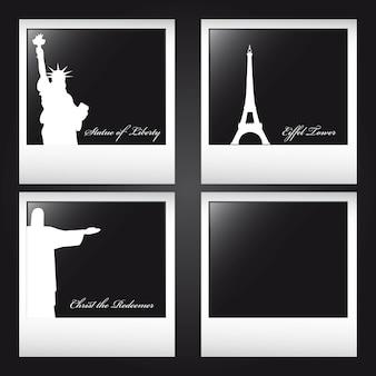 Monumentos do mundo, vector design