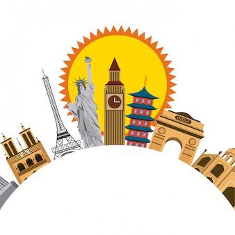 Monumentos icônicos do mundo