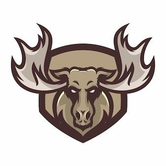 Moose - vetor logotipo / ícone ilustração mascote