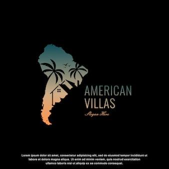 Moradias americanas logotipo design moderno
