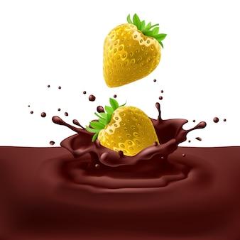 Morangos com chocolate
