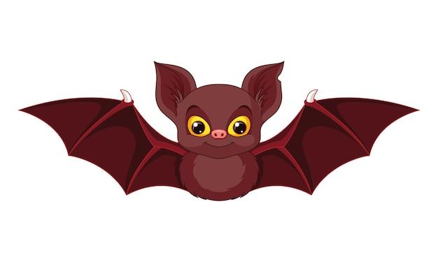 Morcego bonito dos desenhos animados. ilustração vetorial de desenho animado