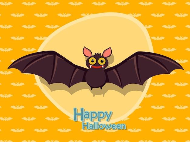 Morcego cartoon vetor halloween em background.vector ilustração.