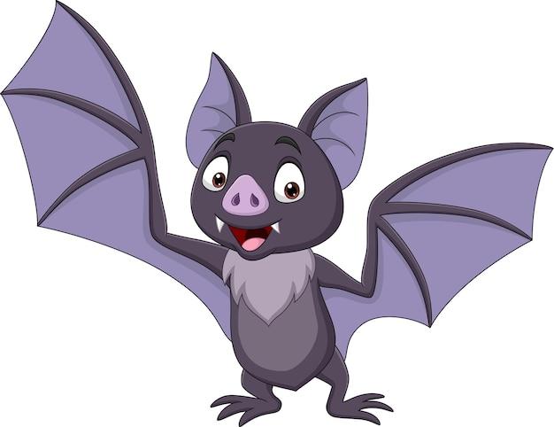 Morcego de desenho animado isolado no fundo branco