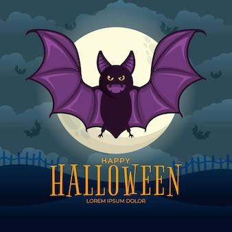 Morcego festival de halloween