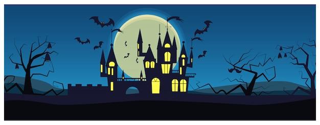 Morcegos voando em torno da casa misteriosa