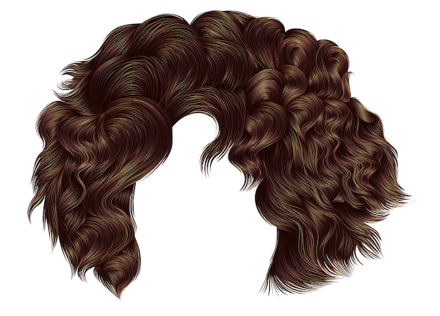 Morena de cabelos cacheados curtos mulher