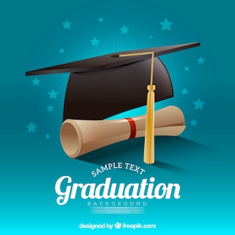 Mortarboard, fundo, diploma