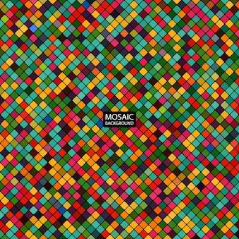 Mosaico abstrato de fundo dos quadrados coloridos