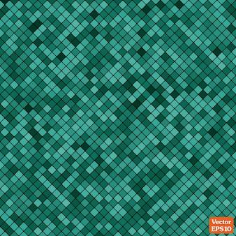 Mosaico abstrato do padrão de pixel da grade e quadrados cor turquesa