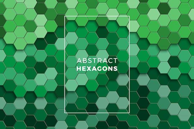Mosaico colorido de hexágonos.