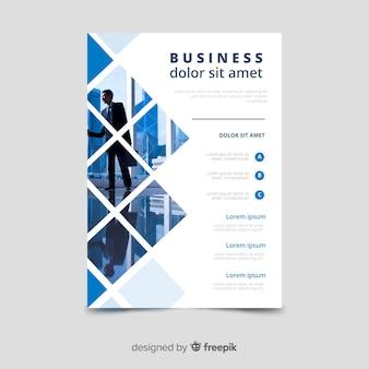 Mosaico de modelo de panfleto de negócios
