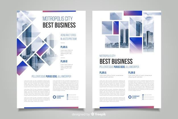Mosaico de panfleto de negócios de modelo