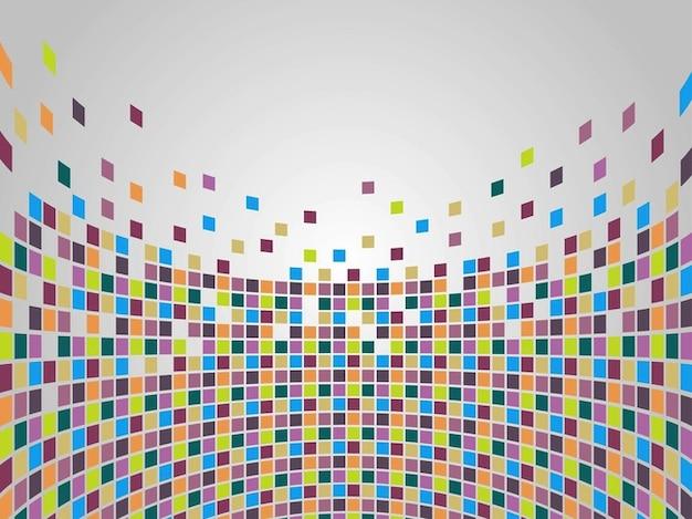 Mosaico de praças geométricas coloridas