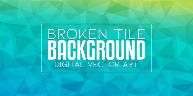 Mosaico quebrado de vidro abstrato geométrico dinâmico banner texturizado de fundo baixo poli