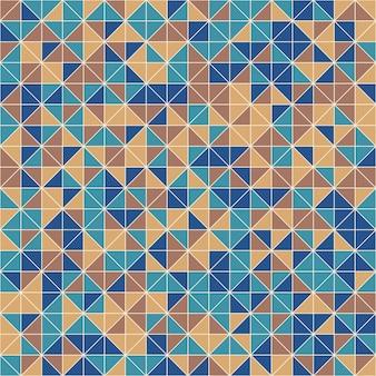 Mosaico retro com padrão sem emenda de forma geométrica, fundo abstrato do vetor