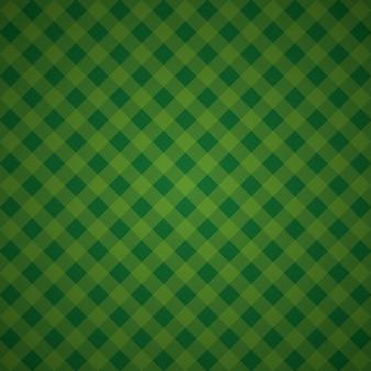Mosaico têxtil xadrez de fundo geométrico verde