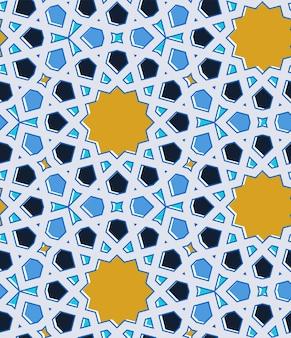 Mosaico tradicional islâmico oriental. padrão uniforme. ilustração vetorial.