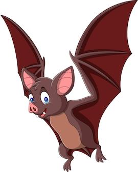 Mosca de morcego dos desenhos animados isolada no fundo branco